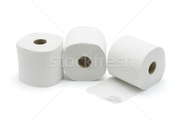 Três banheiro branco papel limpar Foto stock © dezign56