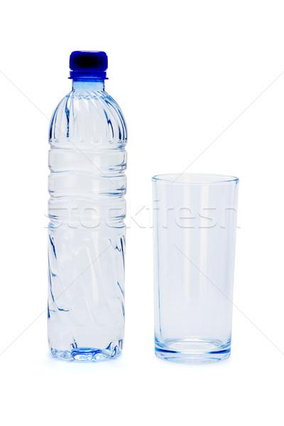 бутылку минеральная вода пусто стекла белый воды Сток-фото © dezign56