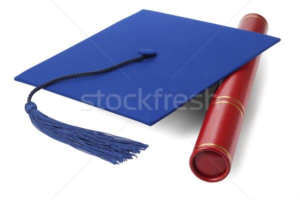 Graduation Mortar Board with Scroll Holder Stock photo © dezign56