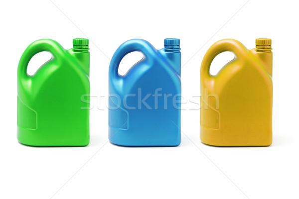 üç renk yağlayıcı madde beyaz yeşil mavi Stok fotoğraf © dezign56