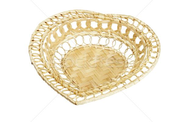 Heart shape cane basket Stock photo © dezign56