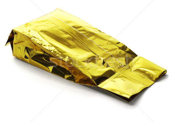Or jaune aluminium alimentaire chocolat sac Photo stock © dezign56