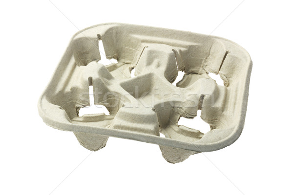 Recycled Paper Pulp Cup Tray Stock photo © dezign56