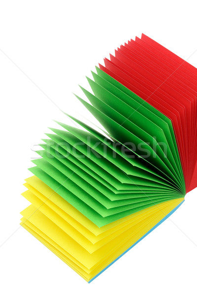 Stack of Color Memo Papers  Stock photo © dezign56