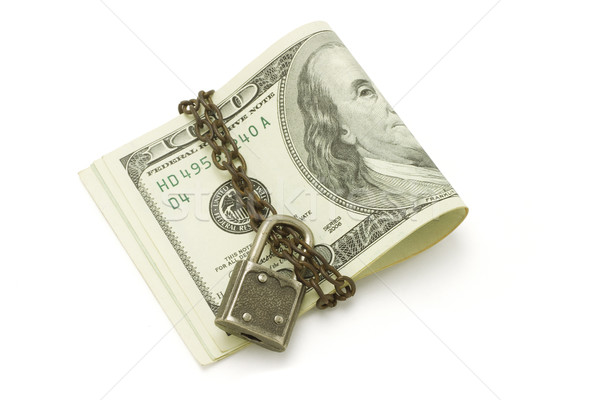 100 US dollars bills - safe and secured Stock photo © dezign56