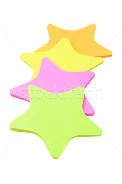 Csillag forma papír matricák színes narancs Stock fotó © dezign56