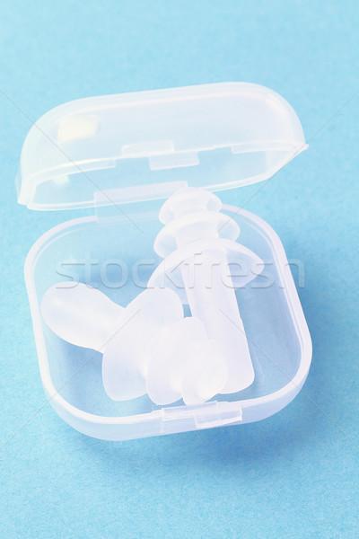 Ouvido abrir recipiente par azul Foto stock © dezign56