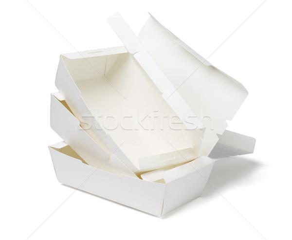 коробки белый бумаги группа обед Сток-фото © dezign56