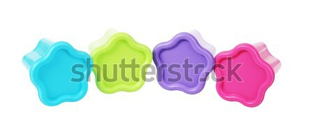 Colorido plástico floral forma projeto grupo Foto stock © dezign56