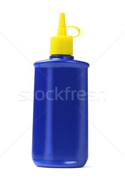 青 プラスチック 油 ボトル 白 化学 ストックフォト © dezign56
