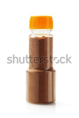 Curry polvo botella blanco contenedor objeto Foto stock © dezign56