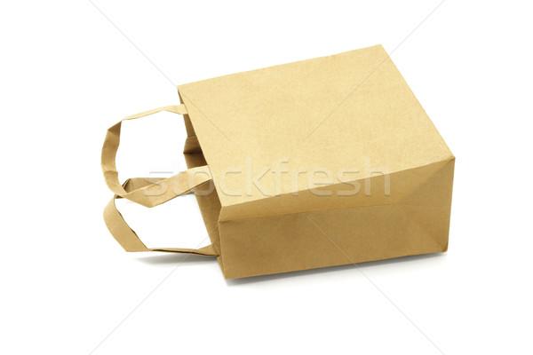 袋 ブラウン リサイクル 紙袋 テクスチャ ストックフォト © dezign56