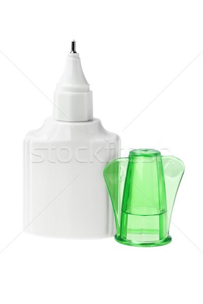 Plastica bottiglia fluido open verde cap Foto d'archivio © dezign56