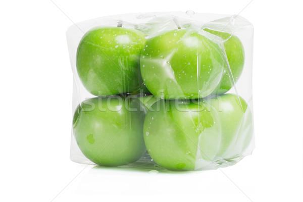 新鮮な 緑 リンゴ 透明な 白 ストックフォト © dezign56