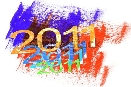 2011 ano novo colorido abstrato textura cor Foto stock © dezign56