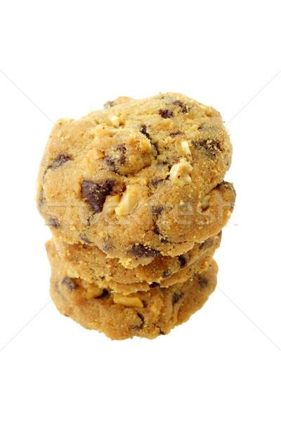 Almond chocolate chip cookies Stock photo © dezign56