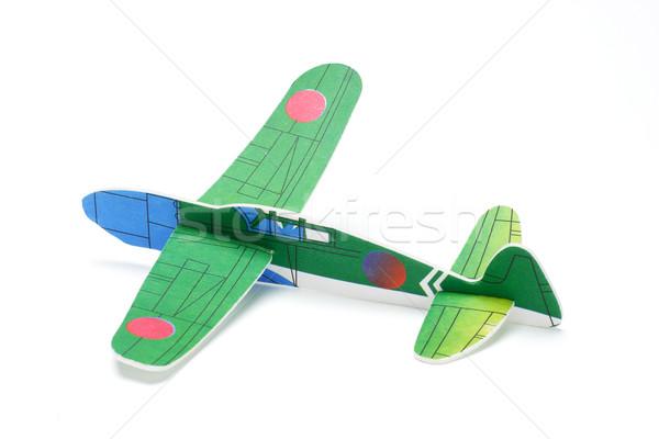Styrofoam toy aeroplane Stock photo © dezign56