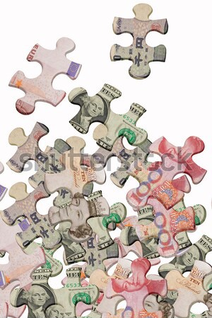 Jigsaw puzzles and world major currencies  Stock photo © dezign56