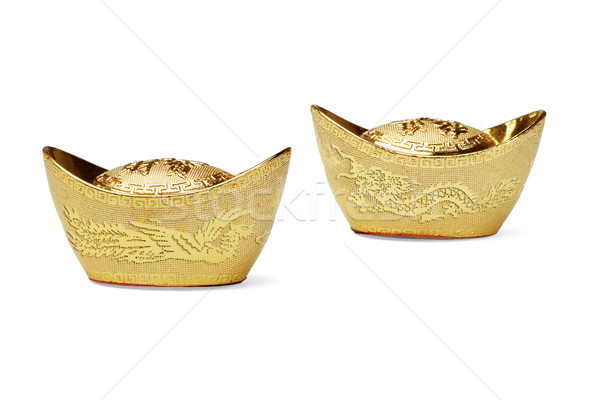 Chinese new year gold ingot ornaments Stock photo © dezign56