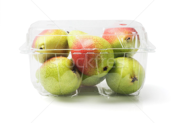 Blush Pears In Plastic Container Stock photo © dezign56