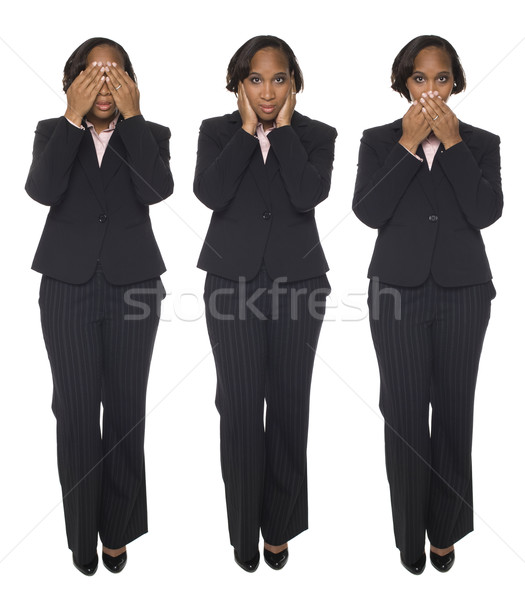 Businesswoman - Speak No Evil Stock photo © dgilder