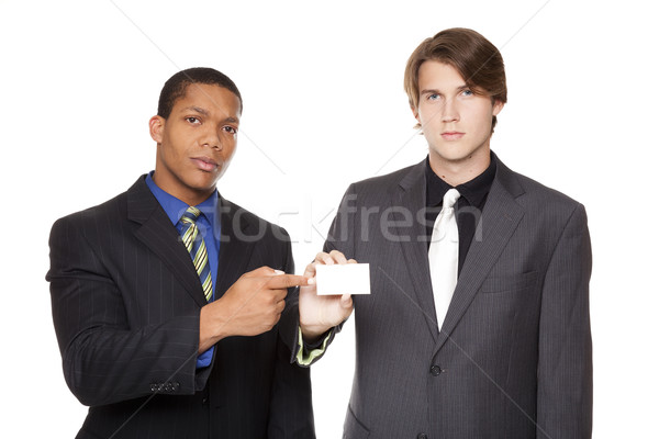 businesspeople - businesscard Stock photo © dgilder