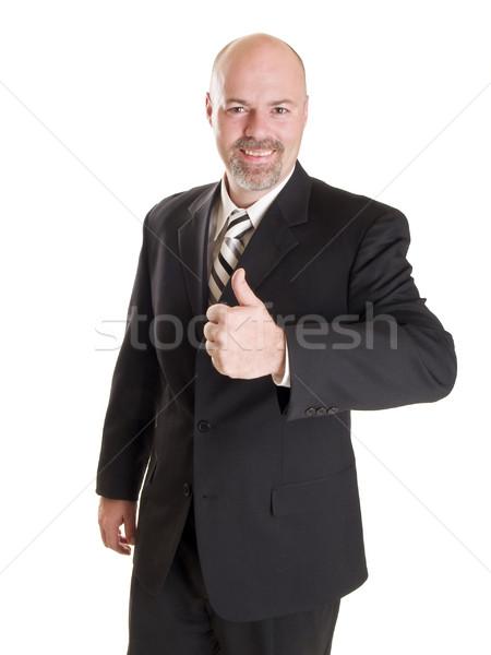 бизнесмен счастливым изолированный складе фото Сток-фото © dgilder