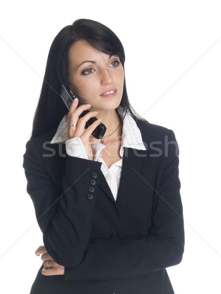 деловая женщина изолированный говорить сотового телефона Сток-фото © dgilder