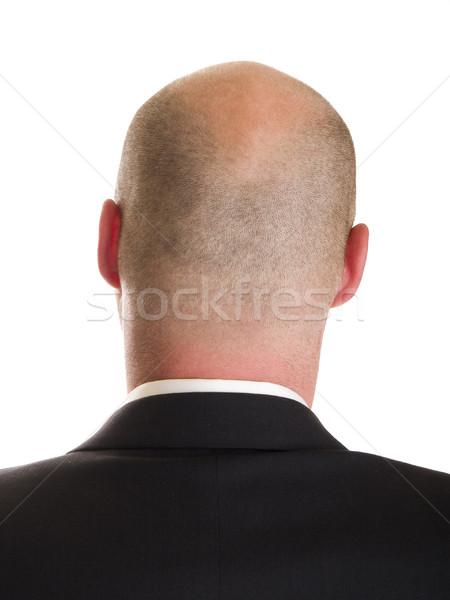 Fej üzletember hát stock fotó oldal Stock fotó © dgilder