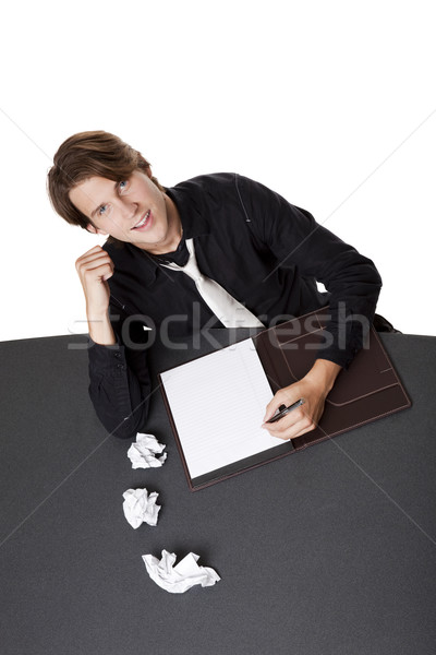 businessman - writers block win Stock photo © dgilder