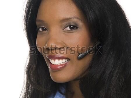 businesswoman - telephone operator Stock photo © dgilder