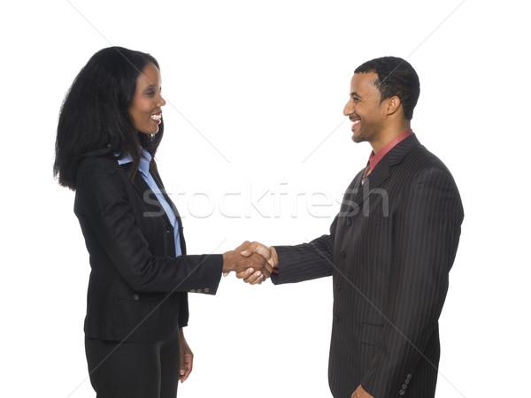 Businesspeople handshake greeting stock photo david gilder add to lightbox download comp m4hsunfo