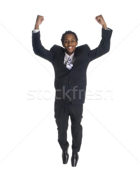 businessman - jump for joy Stock photo © dgilder