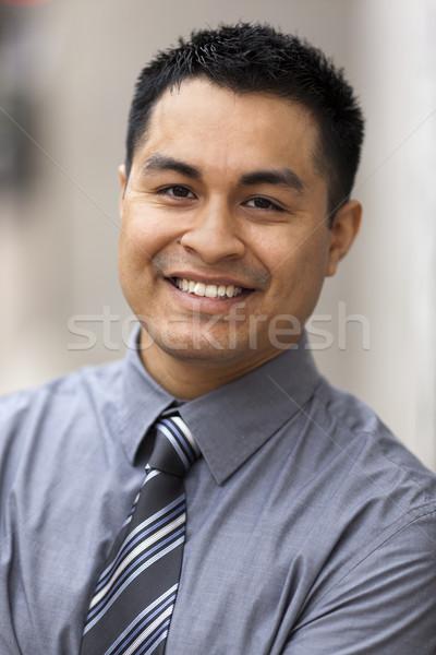 Spanyol üzletember portré stock közelkép fotó Stock fotó © dgilder