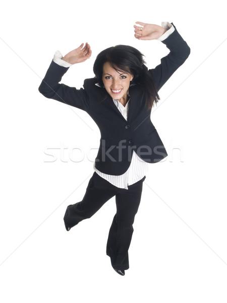 businesswoman jump for joy stock photo 169 david gilder