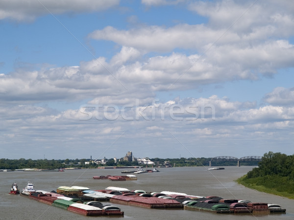 mississippi river barges Stock photo © dgilder