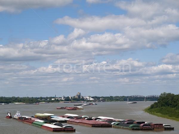 Mississipi nehir grup kargo Stok fotoğraf © dgilder