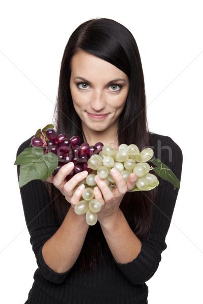 Termény gyümölcs nő szőlő izolált stúdiófelvétel Stock fotó © dgilder