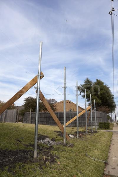 Housing - Fence Under Construction Stock photo © dgilder