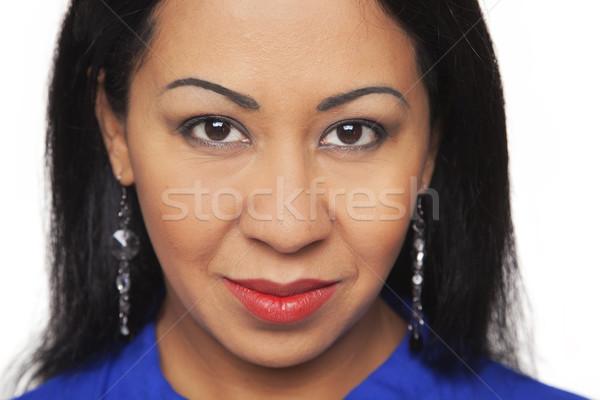 Casual Latina - Closeup Headshot Stock photo © dgilder