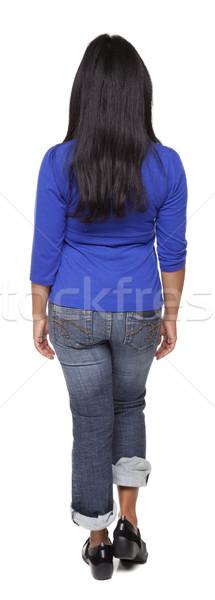 Casual Latina - rotation rear view Stock photo © dgilder