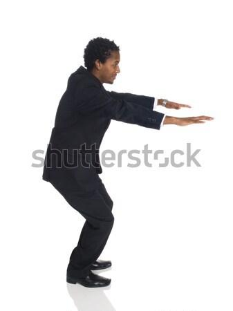 Empresário saltar saldo Foto stock © dgilder