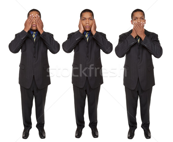 businessman - no evil Stock photo © dgilder
