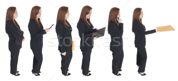 businesswoman - queue of one Stock photo © dgilder