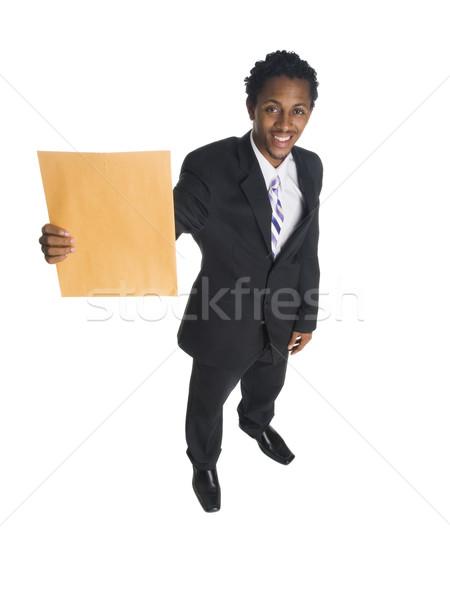 Empresário escritório carta isolado Foto stock © dgilder