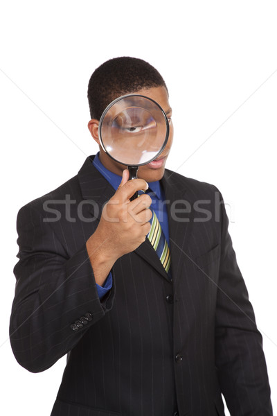 businessman - magnifying glass search Stock photo © dgilder