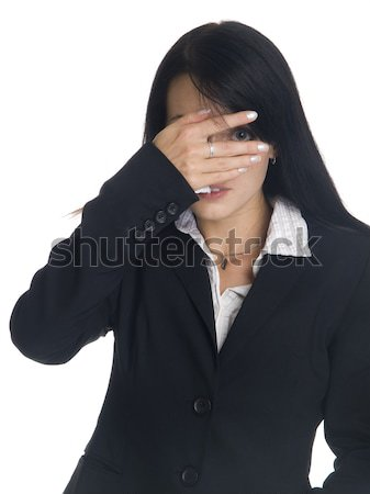 businesswoman - peekaboo Stock photo © dgilder
