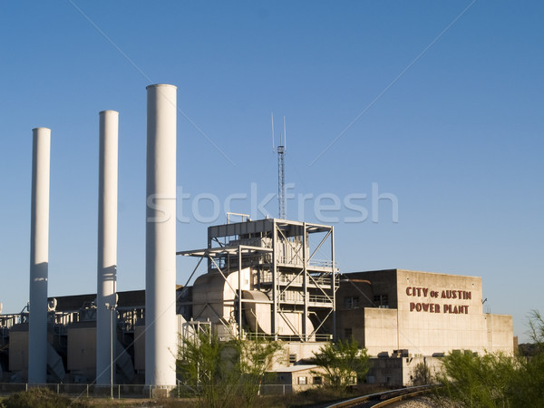 Austin central eléctrica edad ciudad centro de la ciudad Colorado Foto stock © dgilder