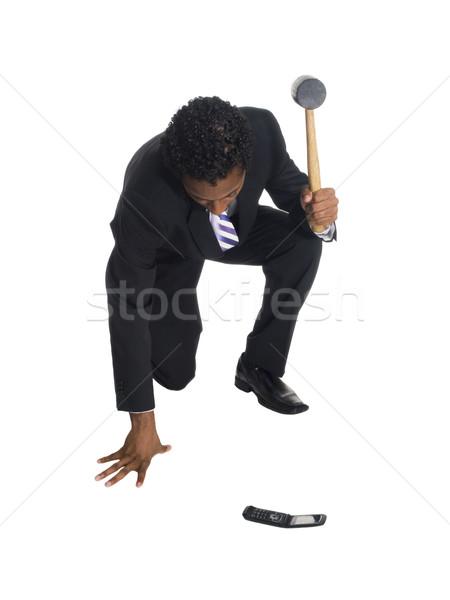 businessman - phone smash Stock photo © dgilder