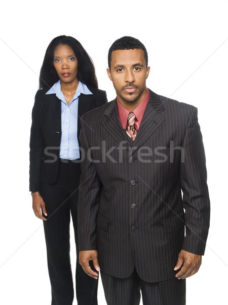 Isolado africano americano empresário olhando Foto stock © dgilder